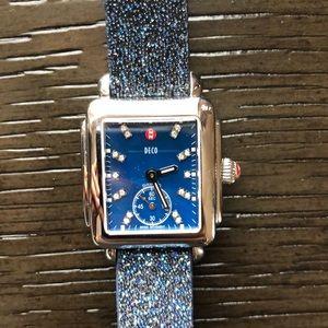 Michele mini deco .08 ct diamond watch